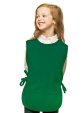 Kelly Green Kids Art Smock Cobbler with High Quality Poly/Cotton Twill Fabric
