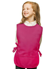 Hot Pink Kids Art Smock Cobbler with High Quality Poly/Cotton Twill Fabric