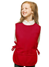 Red Kids Art Smock Cobbler with High Quality Poly/Cotton Twill Fabric