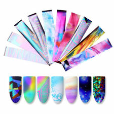 10x Holographic Nail Foil Set Transparent Starry Sky Nail Art Transfer Sticker