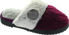 Dearfoams Footx50645 Women's Aubergine Thick Cable Knit Warm Mule Slippers New