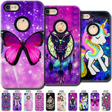 For Apple iPhone 7/8 Back Varnish Relief PC&TPU Hybrid Skin Hard&Soft Case Cover