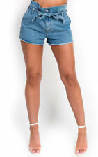 IKRUSH Womens Dana Tie Waist Denim Shorts