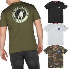 Alpha Industries Men's T-Shirt Space Shuttle Nasa MA1 Shirt S to 3XL New