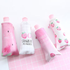 Strawberry Toothpaste PU Pencil Case Pencil Sharpener Storage Bag Stationery