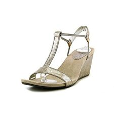 Style & Co. Womens Mulan2 Open Toe Special Occasion Strappy Sandals, New Pewter