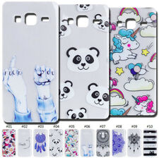 Pattern TPU Skin Silicone Gel Soft Protective Case Cover Clear Back For Samsung