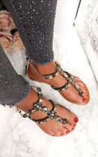 IKRUSH Womens Gomez Crystal Embellished Sandals