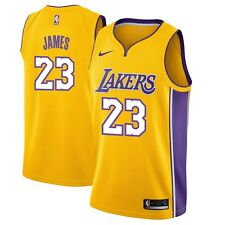 New Nike NBA Los Angeles Lakers LeBron James #23 Swingman Icon Edition Jersey