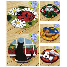 MagiDeal Latch Hook Kit Animals Rug Tapestry Cushion Craft Needle Embroidery