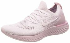 NIKE Women's Epic React Flyknit Running Shoe, Pearl Pink/Pearl Pink-barely Rose