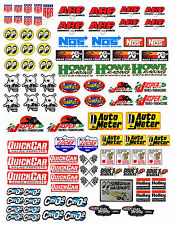 1:18 DECALS FOR DIECAST AND MODEL CARS & DIORAMA AAR LARGE