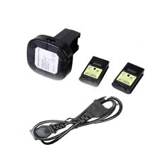 Charger Rechargeable Cable Kit + 2 Battery Pack For Xbox 360 Controller 4800mAh