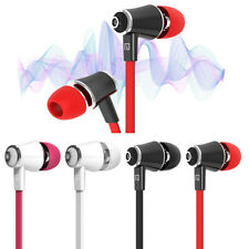 IN EAR EARPHONES 3.5MM JACK HEADPHONES WITH MIC BASS STEREO FOR SAMSUNG HUAWEI