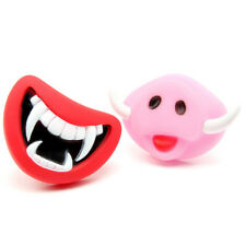 Pet Dog Teeth Silicon Toy Chew Squeaker Squeaky Sound Funny Puppy Play Supplies