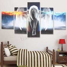 5Pcs Modern Angel Ice&Fire Canvas Print Art Painting Wall Picture Home Decor 1