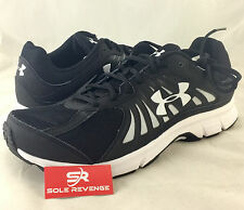 11.5 New Mens Under Armour DASH RN Black White Running Shoes UA 1252296-001