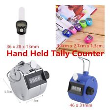 Hand Held Tally Counter Manual Counting 4 Digit Number Golf Clicker VF