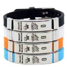 Rusell Westbrook Basketball Bracelet Silicone Stainles Steel adjustabl Wristband