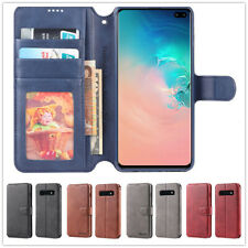 Leather Wallet Flip Card Slot Cover Case For Samsung Galaxy S8 S9 S10 Plus