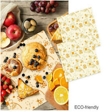 Beeswax Wrap Wrapping Natural  Storage Bee Wax Cloth Reusable Biodegradable 3Pcs