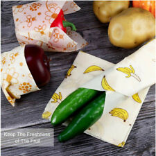 Beeswax Wrap Reusable Washable Wrapping Biodegradable Antiseptic Bee Wax Cloth
