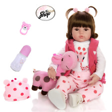 Baby Doll Toy Cloth Body Stuffed Realistic Baby Doll With Giraffe Toddler Gifts