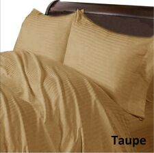 Comfort Duvet Collection 100% Cotton 1000 TC Select US Size Taupe Striped