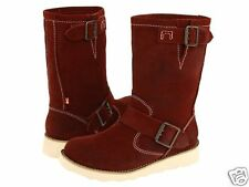 BC Footwear PATCHWORK Rust Brown Mid Calf Boots Womens
