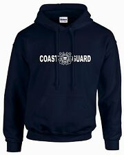 COAST GUARD MEN'S NAVY BLUE NEW HOODIE SWEATSHIRT