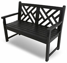 Polywood® Chippendale 4ft Outdoor Bench Plastic Recycled Colors