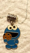 Cookie Monster W/ Chol Chip Cookie Necklace Sparkles