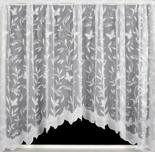 Hawaii BUTTERFLY White Net Curtain JARDINIERE All Sizes