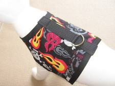 Flame And Skull Dog Harness Vest Apparel Clothes