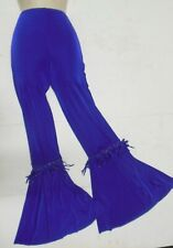 NWT SLINKY LYCRA BELLBOTTOM DANCE JAZZ PANTS COLORS  child/ladies Fringie detail