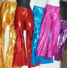 NWT FOIL BOOTCUT PANTS JAZZ DANCE Majorette $36 RETAIL Ch/Ladies Shiny Metallic