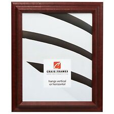 "Craig Frames Tulip Poplar, 1.25"" Queen Ann Cherry Red Hardwood Picture Frame"