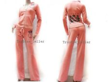 NWT Women's Juicy Couture Encrusted Crest Tracksuit Hoodie Pants Pink,