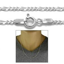 Sterling Silver FIGARO LINK chain necklace 2mm 050