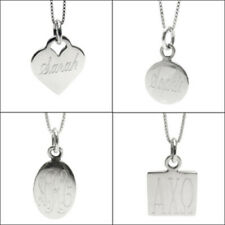 925 Sterling Silver Personalized Pendant w/ Necklace