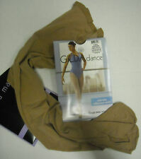 NEWPkg Gilda Marx Supplex Convertible Transition Dance TIGHTS Suntan
