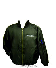 Bomber Jacket S-4XL Embroidered SECURITY Back & Front