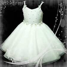 Whites X'mas Pageant  Flower Girls Tulle Dress Age 3-8T