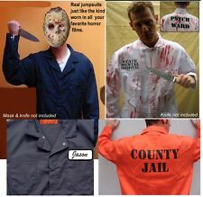 BEST BIG TALL Halloween Costume Jumpsuit  JAIL INMATE PSYCHO MICHAEL MYERS JASON
