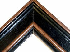 "2"" Wide Country Black Solid Wood Picture Poster Frame-Custom Made Standard Sizes"