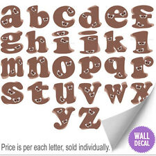 Name Wall Letters Alphabet Stickers Initial Decals Girls Decor Brown Butterfly
