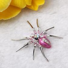 4 Colors Spider Widow Animal Brooch Pin Bag Hat Clip Party Xmas Gift