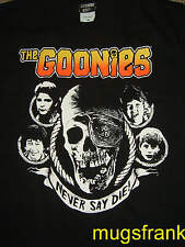 New The Goonies Movie Never Say Die Skull Cast Black T-Shirt