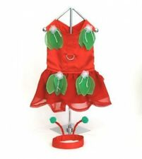 DOG PET COSTUME - RED FAIRY DRESS W/ HEADPIECE - HOLIDAYS  - XXS TO MEDIUM