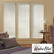 "Window Blind Outlet Premium Faux Wood Blinds 31 - 36""W x 49 - 60""L FREE Shipping"